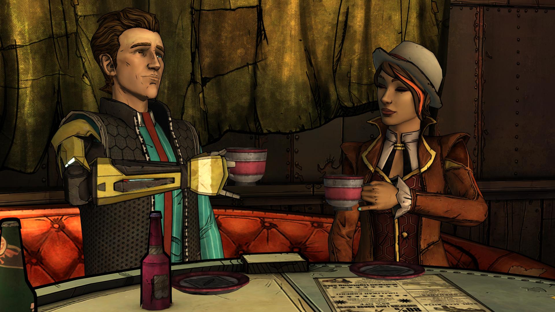 Пример противопоставления: Фиона говорит похитителю, что они с Риз спокойно обсудили их сотрудничество. Затем Риз рассказывает, что происходило на самом деле.